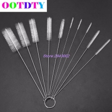 10Pcs/lot Household Bottle Tube Cleaning Brush Set Home Kitchen Clean Tools APR10(China)