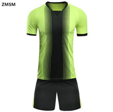 ZMSM Football uniforms Breathable Short Sleeve Men's Soccer Jerseys Sets survetement football 2017 training sports suit GB-S70(China)