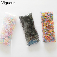 Buy Vigueur 1CM TPU Band Hair Accessories Women 1000pcs/pack Tie Gum Children Rubber Elastics Bands Hair Girls for $1.44 in AliExpress store