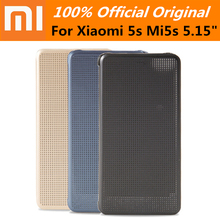 100% Official Original Xiaomi Smart wake up Flip Leather Case protector Cover For Xiaomi 5s M5s Mi5s 5.15""