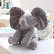 Abbyfrank Filled With PP Cotton Plush Toys Elephant Puppy Toy For Children Hide And Seek Interactive Game Speech Voice Control(China)