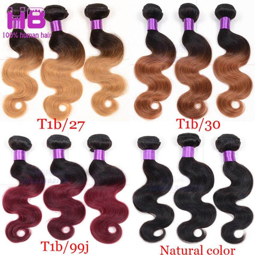 Ombre Human Hair Weave 7A Brazilian Virgin Hair Body Wave 3 Bundles Queen Burgundy Ombre Brazilian Hair Ombre Hair Extensions 1B<br><br>Aliexpress
