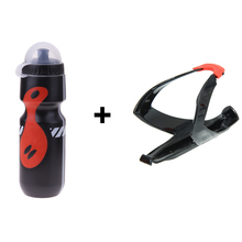 1Pcs Portable 650ml Outdoor Drink Jug Bike Bicycle Water Bottle + Holder Cage Rack For MTB bidon cycling Mountain Road Bike(China)