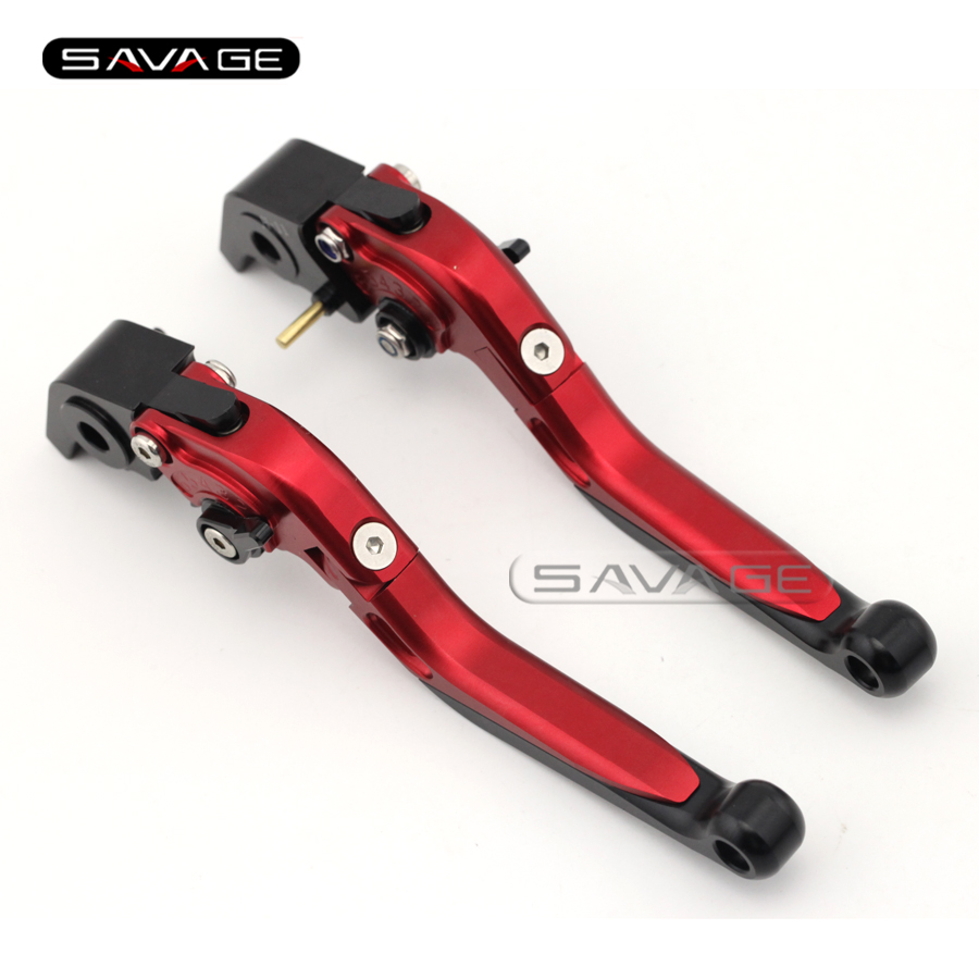 For DUCATI X DIAVEL/DIAVEL/CARBON, MULTISTRADA 1200/S/DVT Red Motorcycle Adjustable Folding Extendable Brake Clutch Levers<br>