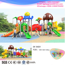 Amusement preschool children plastic slide set outdoor playground equipment(China)