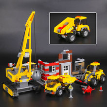 Lepin 02042 869Pcs City Series The Demolition Site Set 60076 Building Blocks Bricks Educational Toy As Kid`s Birthday Funny Gift