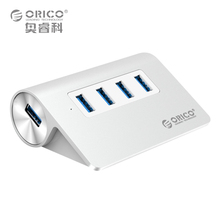 4 Port USB 3.0 Hub 5Gbps with 3.3-Feet USB Cable for Apple Devices Exclusive and Aluminum Surface Design (ORICO M3H4)