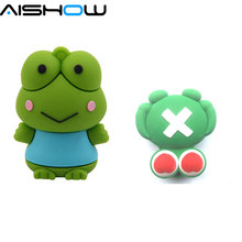 Genuine  4G 8G 16G 32G 64GB Creative Cartoon frog usb flash drive thumb pen memory stick flash drive gitf