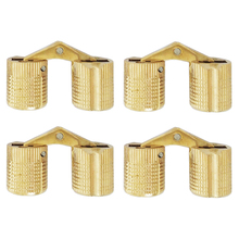 High Quality 4pcs 8/10/12mm Invisible Hinge Concealed Hinge Hidden Barrel Hinge Brass Mayitr New Arrival(China)