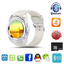 Multifunction Bluetooth Digital Smart Watch For Men Women V8 With SIM TF Card Sync HD IPS Screen Wrist Clock For IOS Android(China)