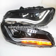 For VW Passat B7 LED Strip Head Lamp Angel Eyes 2011-2014 Year LDV2 Type North American Version