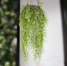 Green Hanging Plant Artificial Plant+Mini flower Willow Wall Home Decoration Balcony Decorattion Flower Basket Accessories