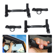 beler 82211740  Pair Thin Black Roll Bar Grab Handle Holder for 1987-2013 2014 2015 2016 Jeep Wrangler 2 4 DOORS Car Accessories