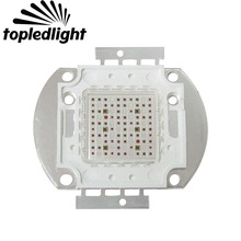 Topledlight Customize 100W Growth Chip Array Multiband 7 Band Full Spectrum Led Emitter Lamp For Plant Seeding/Growing/Flowering