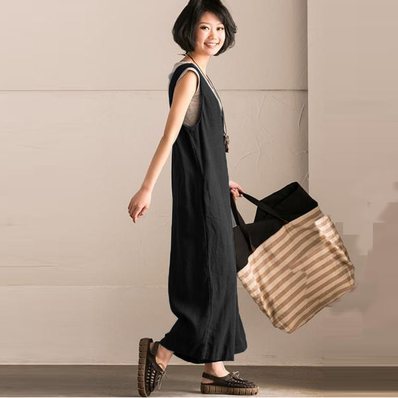 2018-Linen-Jumpsuits-Women-Harem-Rompers-Casual-Pockets-Sleeveless-Backless-Long-Pants-Loose-Playsuit-Plus-Size (5)