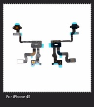 For Iphone 4S Original Power Button Flex Cable Ribbon Light Sensor Power Switch On / Off Replacement for Ihone 4S Flex Cable(China)