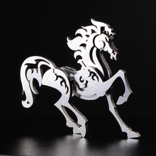 High Quality Horse Animal Stainless Steel 3D Metal Kits Puzzle Assembling Model Creative Children Birthday Gift Decoration Toy(China)