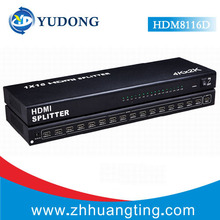 wholesale 5pcs v1.4 1080P HDMI Splitter 1X16 4K*2K 1 INPUT 16 OUTPUT HDMI Splitter For PS3/4 Projector Notebook HDTV(China)