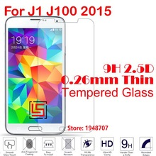 New Ultra Thin 2.5D 0.26mm 9H Phone Front Tempered Glass Verre Cristal For Samsung Samsug Sumsung Samsun Galaxy J1 J100 2015
