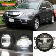 eeMrke Car Styling For Acura RDX 2010-2015 2 in 1 Multifunction LED Fog Lights DRL With Lens Daytime Running Lights