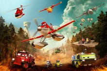 DIY frame Planes: Fire and Rescue (2014) Cartoon Movie Film Poster Silk Fabric Print Picture Dane Cook(China)