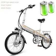 20 inch folding electric bike boost 48V lithium battery rang 50km max speed 30km bottle mini adult scooter change samrt - Cold Roses Store store
