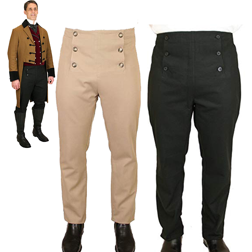 PUNK Men pants Trousers High Waist Gothic Steampunk Aristocrat Victoria Regency