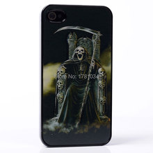 AMAZE 3D MOVIE EFFECT sit king throne sickle hat bellow growl skull PC Hard Back Shell Cover protective Case For iphone 4 4S 4G