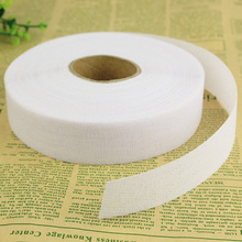 3cm one side hard white interlining fabric cloth for dress waist suit trousers accessories patchwork for sewing handmade1177(China)