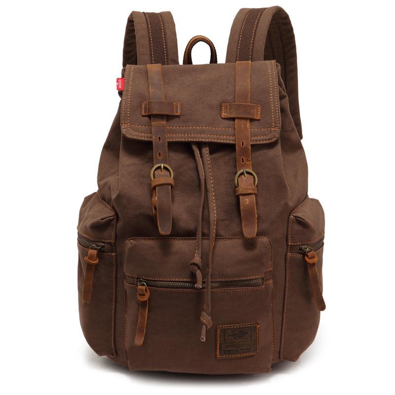 Man Canvas Backpacks Women Schoolbags Male Unisex Military Backpack Trekking Rucksacks bolsa feminina mochila escolar<br>