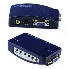 Composite Video PC VGA to AV /VGA to V/CVBS/S-Video/RCA RCA S-Video Converter Box For all PC and MAC notebook(China)