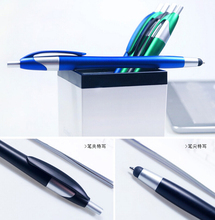 10 Pieces Capacitance Pen Mobile Phone Touch Screen Stylus Painting Pen Writing Pens 2 in 1 Useful Office School Ballpoint Pen