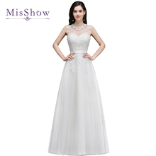 Buy Robe De Mariage Princess wedding dresses Bridal Gown White ivory Cheap Tullle Lace line Wedding Dress 2017 Vestido De Noiva for $57.19 in AliExpress store
