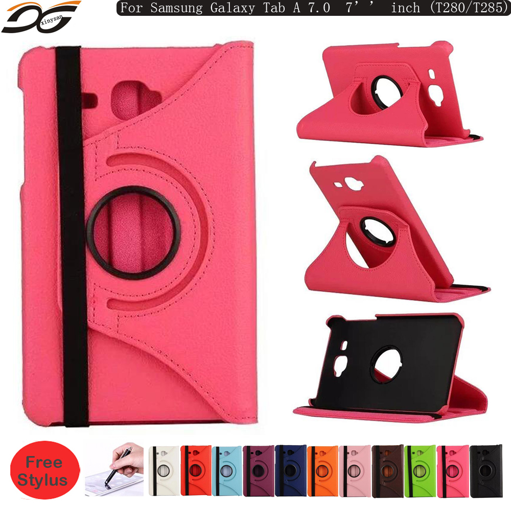 360 Degrees Rotating Case for Samsung Galaxy Tab A 4 A6 2016 7.0 7 inch T280 T285 WIFI 4G Rotational Strap Stand Leather Case<br><br>Aliexpress
