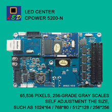 LED CENTER C-POWER 5200 NETWORK PORT SEND DATA CONTROL CARD LED SIGNS BOARD lumen single Monochrome double color controller(China)