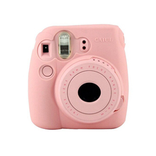CAIUL Noctilucent Camera Soft Case Skin Cover For fujifilm Instax mini 8 Pink