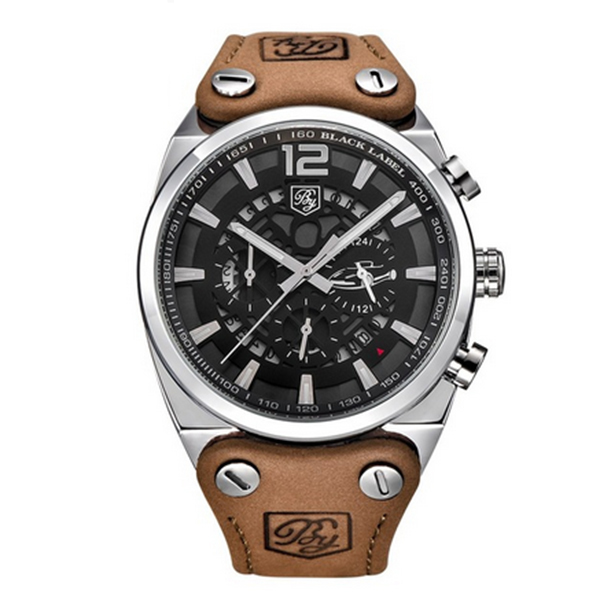 BENYAR Sport Men Watches Quartz Man Outdoor Big Dial Watch Male Clock Male silver white<br>