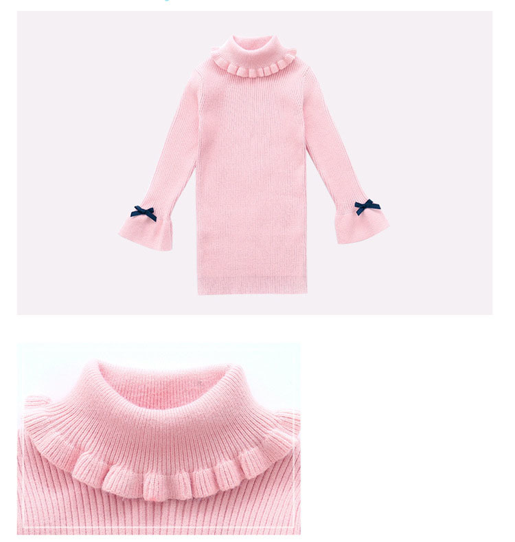 high neck knitting girls sweater dress kids clothes long sleeve knitted red black white autumn winter kids sweater knit tops 5 6 7 8 9 10 11 12 13 14 15 16 years little teenage big girls white girls dresses (6)