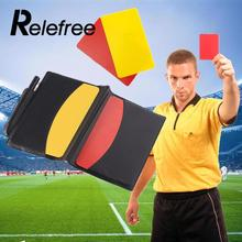 Soccer Referee Supplies/Football red card / red card Referee / game appliances Cards Wallet Pencil Notebook Set(China)