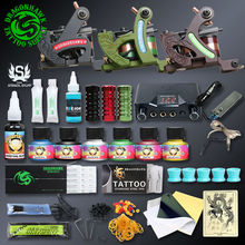 Professional Tattoo Kits Top Artist Complete Set 3 Tattoo Machine Gun Lining And Shading Tattoo Inks Power Needles Tattoo Supply(China)