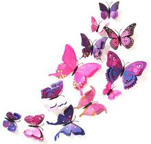 3 d wall stickers Double butterfly sticker label adhesive of bedroom the head of a bed sitting room adornment(China)