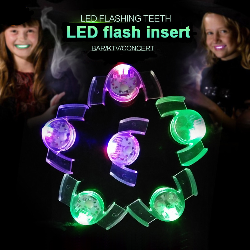 10 Led Flashing Mouth Lights Multi Bright Fun Colors ~ Party Glow Blinking Toy