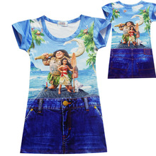 9 Style Summer Children clothing Baby girls dress goods cartoon dresses home clothes Princess cowboy Dresses pajamas 2-10YEAR