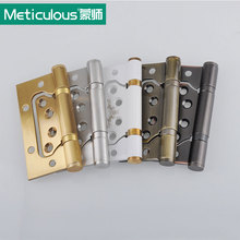 2Pcs Meticulous 4 Inch Ball Bearing Flush Hinges Stainless Steel Door Hinges 3mm Thick with Screws Furniture Wardrobe Door Hinge(China)