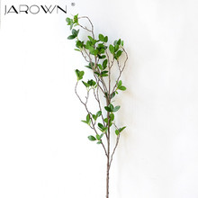 Artificial Flower Leaf Green Plant Branches Simulation Branch Artificial Plant Leaves Wedding Decorative Bouquet DIY material(China)