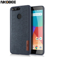 NKOBEE A1 Case Xiao Mi Original Cover For Xiaomi Mi A1 Case Silicon TPU Cotton Cloth Phone Back Fundas For Xiaomi 5X Mi A1 Case(China)