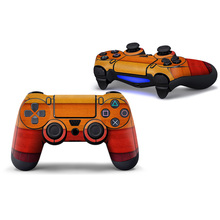 2 pieces for yellow colors style skin for PS4 controller full cover #TN-P4C-0371