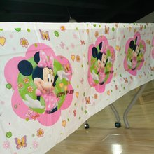 Pink Minnie Mouse Party Supplies Table Cloth Favor Kids Girls Birthday Tablecloths Party Festival Decoration 108cm*180cm 1