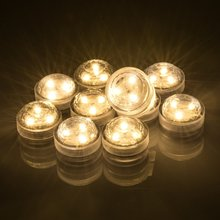 2017 New Year Christmas 20pcs/lot Romantic Waterproof Submersible LED Tea Light Electronic Candle Light for Wedding Party
