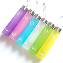 6 Colors 280ml Scrub Plastic Bottle My Sports Water Bottle Cicycle Stylish Space Purple Pink Blue White Green Yellow Drinkware